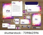 vector abstract stationery... | Shutterstock .eps vector #739862596