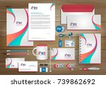 vector abstract stationery... | Shutterstock .eps vector #739862692