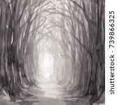 Woodland Path  Watercolor...
