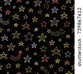 Black Seamless Pattern With...