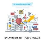 optimization work time. time...   Shutterstock .eps vector #739870636