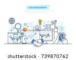 task management  multitask.... | Shutterstock .eps vector #739870762