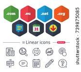 calendar  speech bubble and... | Shutterstock .eps vector #739875085