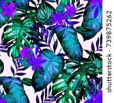 watercolor seamless pattern... | Shutterstock . vector #739875262