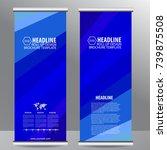 roll up business brochure flyer ... | Shutterstock . vector #739875508