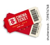 two cinema vector tickets... | Shutterstock .eps vector #739876768