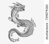 Chinese Dragon  Hand Drawn...