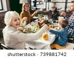 family holding hands and... | Shutterstock . vector #739881742
