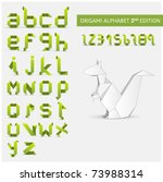 origami alphabet letters and... | Shutterstock .eps vector #73988314