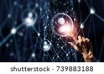 creating wireless technologies. ... | Shutterstock . vector #739883188