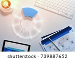 diagram analysis with many... | Shutterstock . vector #739887652