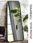 interior with mirror | Shutterstock . vector #739889902
