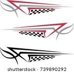 vehicle graphics  stripe  ... | Shutterstock .eps vector #739890292