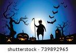 black devil halloween vector...   Shutterstock .eps vector #739892965