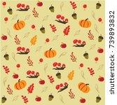 autumn background. vector... | Shutterstock .eps vector #739893832