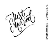 just married wedding brush... | Shutterstock .eps vector #739898578