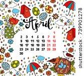 calendar. month. abstract...   Shutterstock .eps vector #739901278