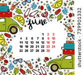 calendar. month. abstract... | Shutterstock .eps vector #739901332