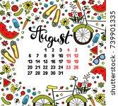 calendar. month. abstract...   Shutterstock .eps vector #739901335