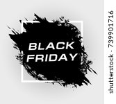 black friday sale banner | Shutterstock .eps vector #739901716
