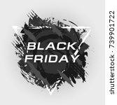 black friday sale banner | Shutterstock .eps vector #739901722