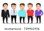 group of guys in different... | Shutterstock .eps vector #739901956