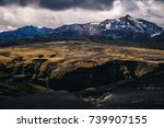 iceland mountain landscape.... | Shutterstock . vector #739907155