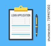 vector loan application form.... | Shutterstock .eps vector #739907302