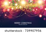 merry christmas shining... | Shutterstock .eps vector #739907956