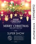 christmas flyer and poster... | Shutterstock .eps vector #739908952