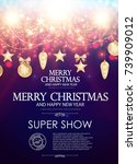 christmas flyer and poster... | Shutterstock .eps vector #739909012