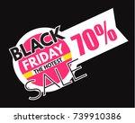 black friday sale. hot offer.... | Shutterstock .eps vector #739910386