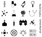 science icon set | Shutterstock .eps vector #739913296