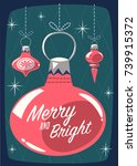 christmas greeting card with... | Shutterstock .eps vector #739915372