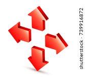 3d arrow icon | Shutterstock . vector #739916872