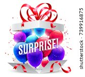 surprise gift box | Shutterstock .eps vector #739916875