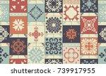 seamless retro ceramic tile...   Shutterstock .eps vector #739917955