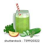illustration of a green... | Shutterstock .eps vector #739920322