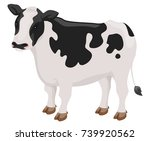 illustration of a cow | Shutterstock .eps vector #739920562