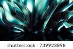 luxury golden background. 3d...   Shutterstock . vector #739923898