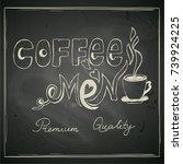 coffee menu   hand drawn... | Shutterstock .eps vector #739924225