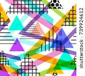 seamless pattern geometric...   Shutterstock .eps vector #739924612