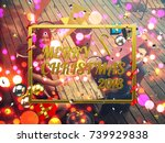 celebrating new year together.... | Shutterstock . vector #739929838