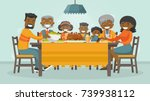 christmas   thanksgiving... | Shutterstock .eps vector #739938112