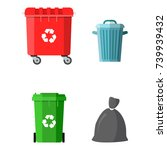 can container  bag and bucket... | Shutterstock .eps vector #739939432