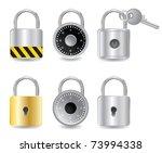 set padlock | Shutterstock .eps vector #73994338