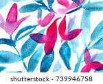 hand made nature watercolor... | Shutterstock . vector #739946758