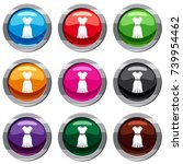 dress set icon isolated on...   Shutterstock .eps vector #739954462
