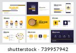 presentation slide templates... | Shutterstock .eps vector #739957942