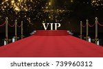 red event carpet  stair and... | Shutterstock . vector #739960312